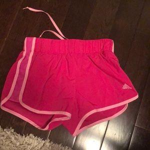 Adidas running shorts.
